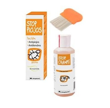 STOP PIOJOS CABELLO CORTO GEL + CHAMPU + PEINE