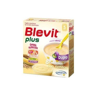 BLEVIT PLUS DUPLO 8 CEREALES CON NATILLAS 600 G (iva10)