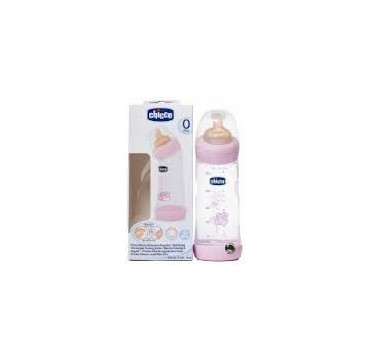 CHICCO BIBERON WB ANGULAR LATEX FISIOLOGICO FLUJO NORMAL ROSA 0M 250 ML