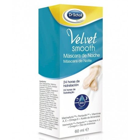 DR SCHOLL VELVET SMOOTH PIES MASCARA NOCHE 60 ML (iva21)