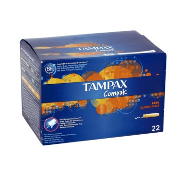 TAMPAX COMPAK SUPER PLUS 22 U