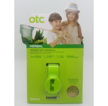 OTC HERBAL PULSERA CITRONELA VERDE
