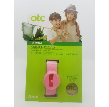 OTC HERBAL PULSERA CITRONELA ROSA