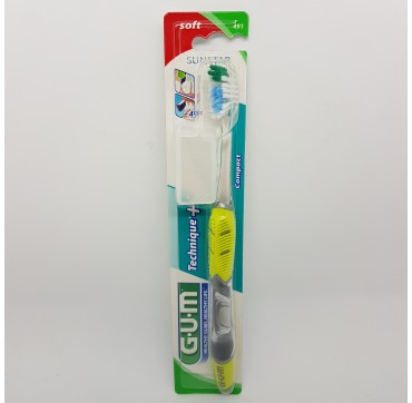 GUM CEPILLO DENTAL ADULTO 491 TECHNIQUE PLUS COM SUAVE (iva21)