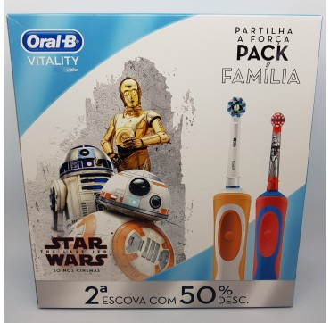 ORALB DUPLO CEPILLO VITALITY CROSS ACTION + CEPILLO STAGE STAR WARS