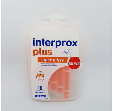 INTERPROX PLUS SUPER MICRO CEPILLO DENTAL INTERPROXIMAL 10 U (iva21)
