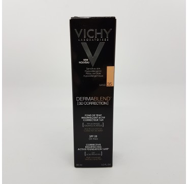 VICHY DERMABLEND FONDO DE MAQUILLAJE 3D CORRECTION SPF 25 OIL FREE C 30 ML 35 SAND
