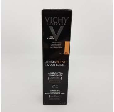 VICHY DERMABLEND FONDO DE MAQUILLAJE 3D CORRECTION SPF 25 OIL FREE C 30 ML 45 GOLD