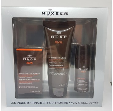 NUXE MEN COFRE 2017 (GEL MULTIFUNCIO + GEL DUCHE+ GEL RASAGE 35ML)