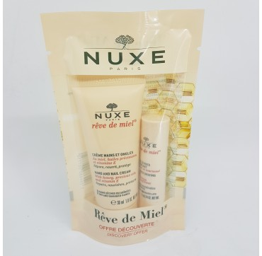 NUXE RED DE MIEL PACK CREMA DE MANOS+STICK LABIAL