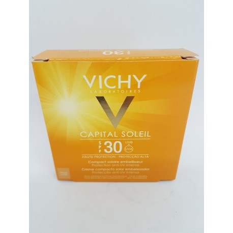 VICHY CAPITAL SOLEIL SPF 30 COMPACTO SOLAR MATIFICANTE BEIGE 9.5 ML (iva21)