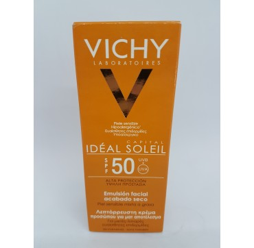 VICHY CAPITAL SOLEIL SPF 50+ EMULSION TACTO SECO 50 ML