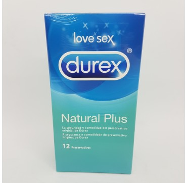 DUREX NATURAL PLUS PRESERVATIVOS 12 U