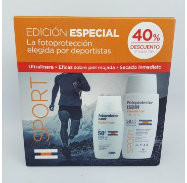 FOTOPROTECTOR ISDIN SPF-50+ PACK SPORT FUSION WATER  50ML + FUSION GEL WET SKIN 100ML