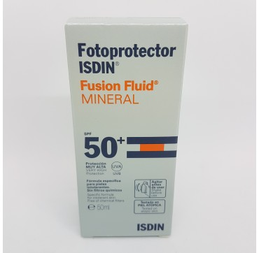FOTOPROTECTOR ISDIN SPF-50+ FUSION FLUID MINERAL 50 ML (iva21)