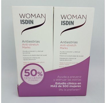 ISDIN WOMAN (VELASTISA) DUO ANTIESTRIAS 250ML 50%DTO