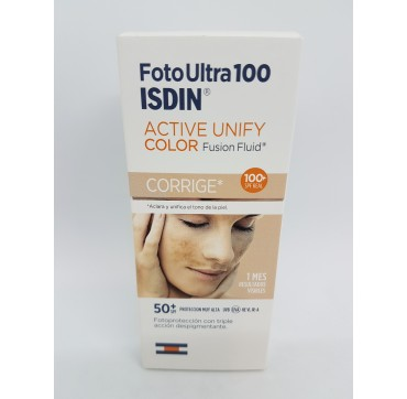FOTOPROTECTOR ISDIN SPF-100+ FOTOULTRA ACTIVE UNIFY FUSION FLUID COLOR 50 ML