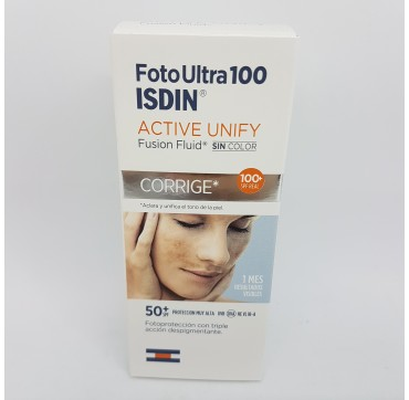 FOTOPROTECTOR ISDIN SPF-100+ FOTOULTRA ACTIVE UNIFY FUSION FLUID 50 ML (iva21)