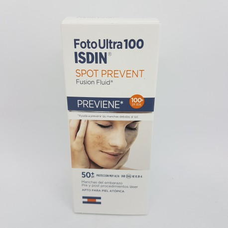 FOTOPROTECTOR ISDIN SPF-100+ FOTOULTRA FUSION FLUID SPOT PREVENT 50 ML (iva21)