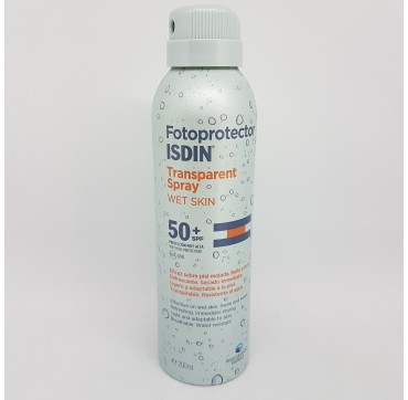 FOTOPROTECTOR ISDIN SPF-50+ SPRAY TRANSPARENTE WET SKIN 200 ML (iva21)