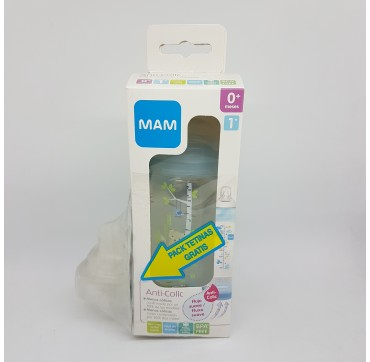 MAM BIBERON +0M ANTICOLICO 260 ML (BAJA)