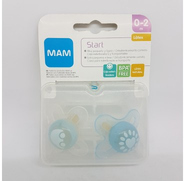 MAM CHUPETE LATEX START 0-2 M PACK DOBLE