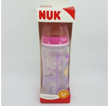 NUK BIBERON FC PP LATEX 1M 300 ML FANTASY