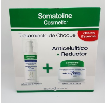 SOMATOLINE COSMETIC KIT TRATAMIENTO DE CHOQUE RE PACK 450 ML + 150 ML