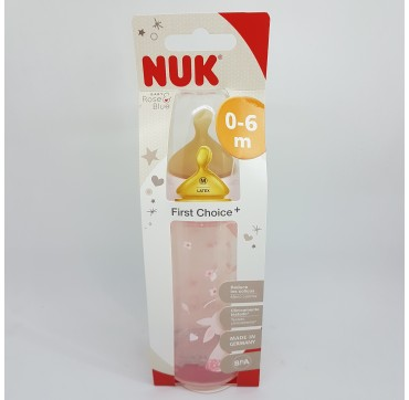 NUK BIBERON PP LATEX FIRST CHOICE 1M 300ML 1 MES