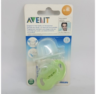 AVENT PHILIPS CHUPETE SILICONA ORTODONTICO 6 - 18 MESES 1 U (iva21)