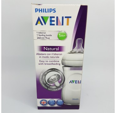 AVENT PHILIPS BIBERON PP NATURAL 260 ML (iva21)