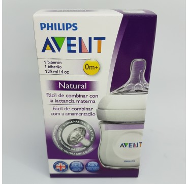 AVENT PHILIPS BIBERON PP NATURAL 125 ML (iva21)