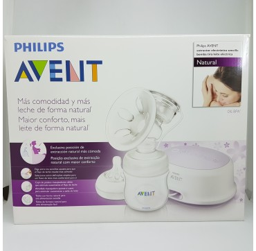AVENT PHILIPS EXTRACTOR DE LECHE ELECTRICO COMFORT NATURAL BIBE