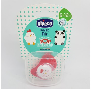 CHICCO CHUPETE POP FRIENDS AIR SILICONA PHYSIO 6-12M