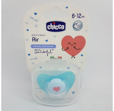 CHICCO MR WONDERFUL CHUPETE SILICONA PHYSIO AIR 6- 12 M
