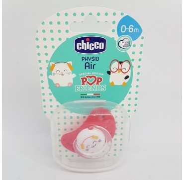 CHICCO CHUPETE POP FRIENDS AIR SILICONA PHYSIO 0-6M